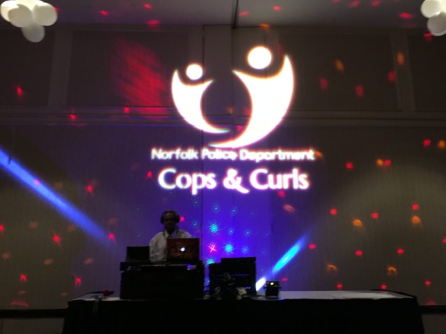 Cops & Curls event